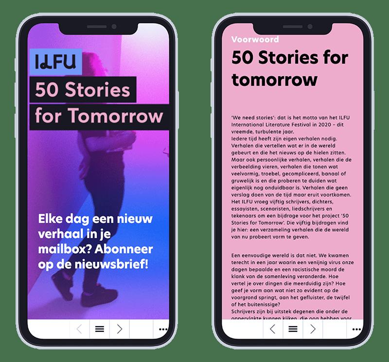 Mobiele versie 50 stories of tomorrow