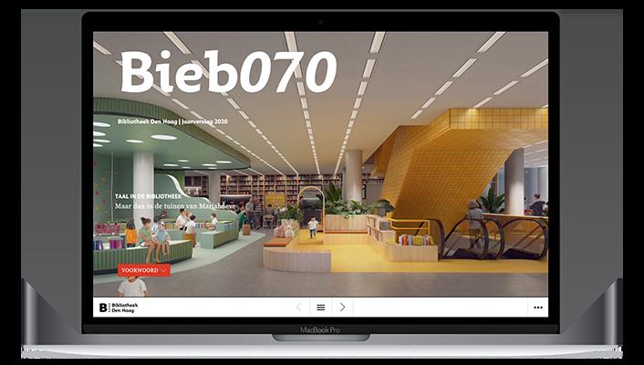 Desktop versie Bieb070 online jaarverslag 2020
