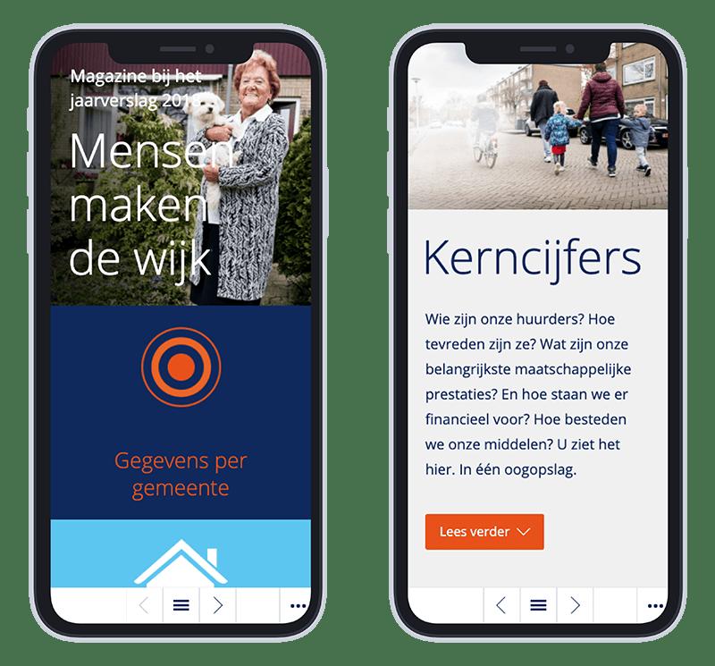 Mobiele versie Portaal online jaarverslag 2018