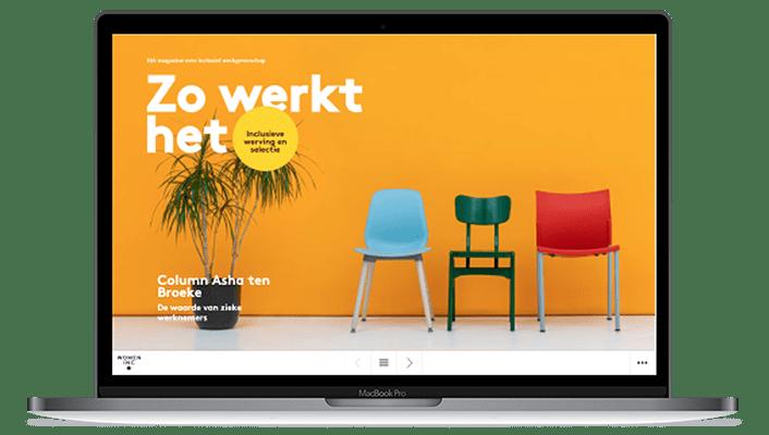 Desktop versie online magazine Women Inc - Inclusieve werving en selectie