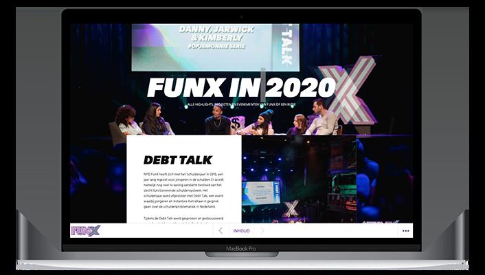 Desktop versie FunX online jaarverslag 2020