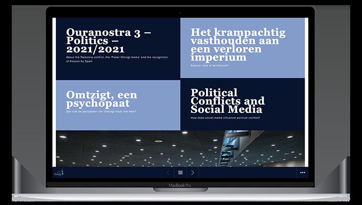 Desktop versie Ouranostra online magazine