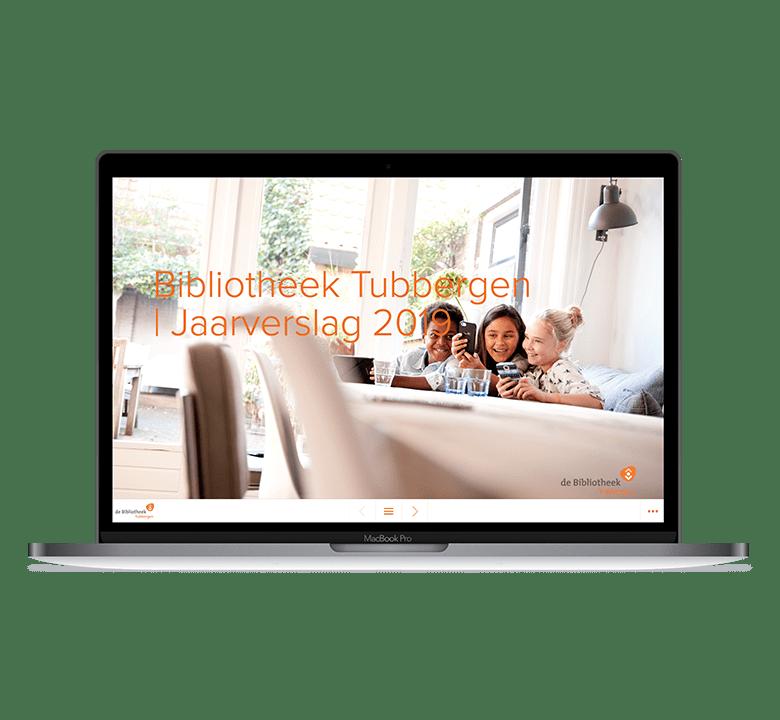 Desktop versie Online Jaarverslag Bibliotheek Tubbergen 2019