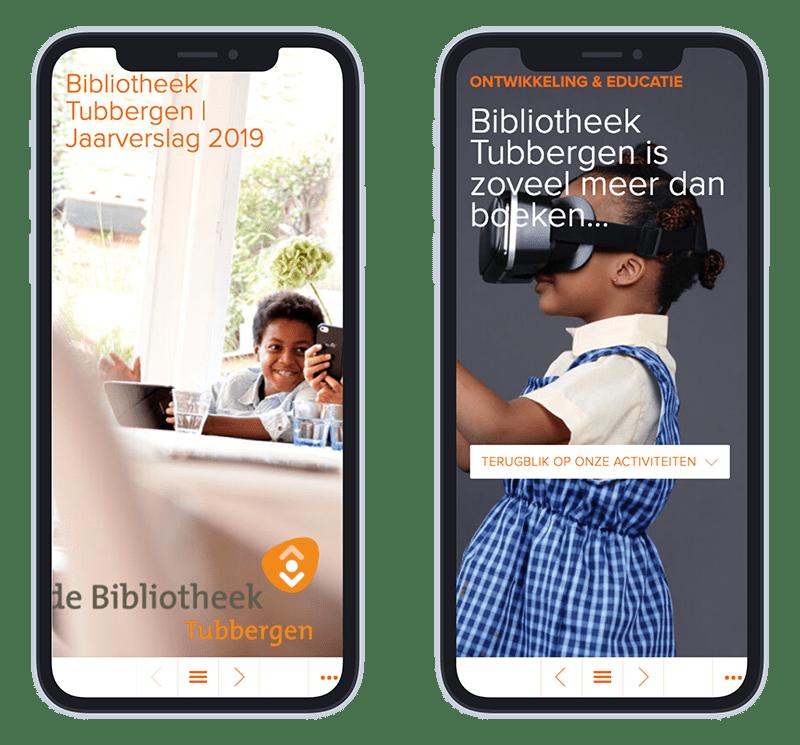 Mobiele versie Online Jaarverslag BibliotheekTubbergen 2019
