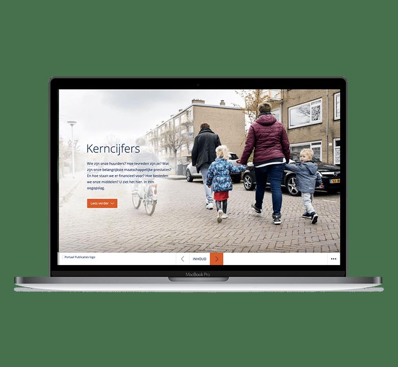 Desktop versie Portaal online jaarverslag 2018