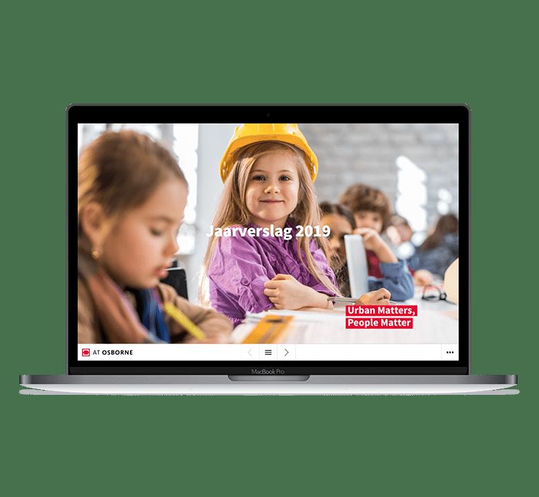 Afbeelding desktop versie AT Osborne online jaarverslag 2019