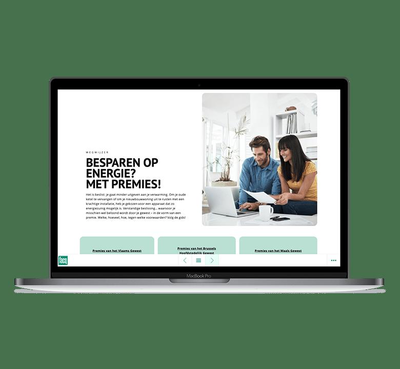 Desktop versie Essential magazine
