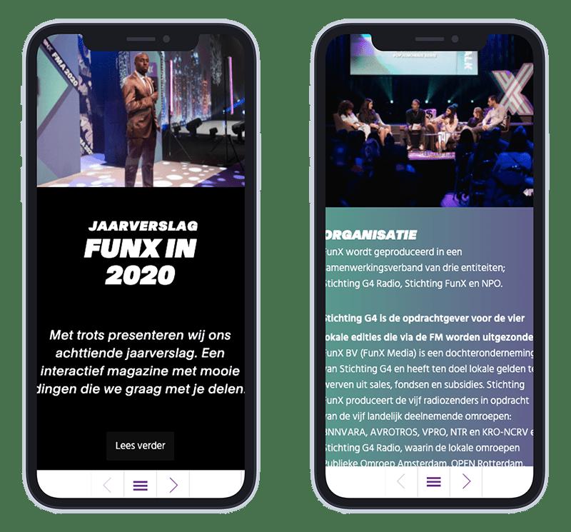 Mobiele afbeelding FunX online jaarverslag 2020