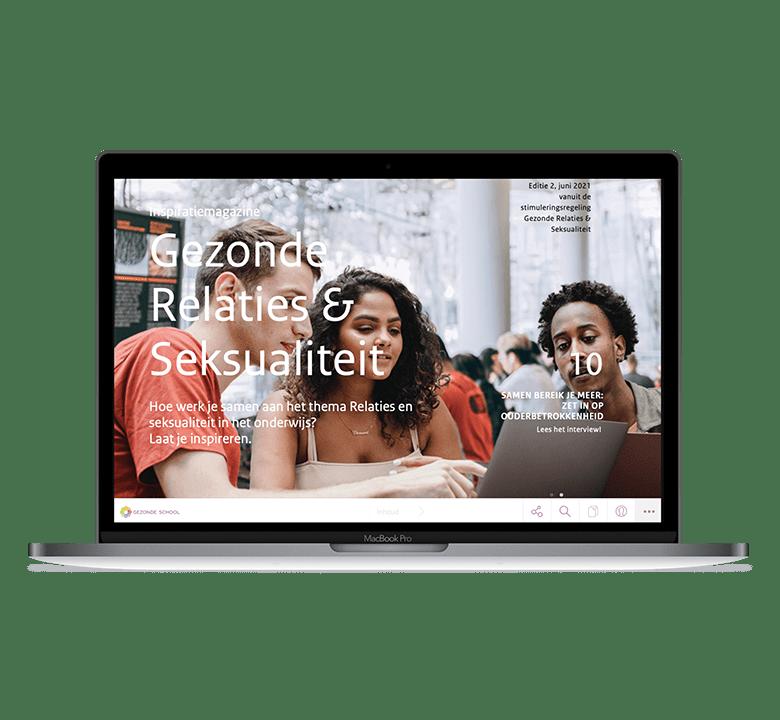 Desktop versie Gezonde School Inspiratie magazine