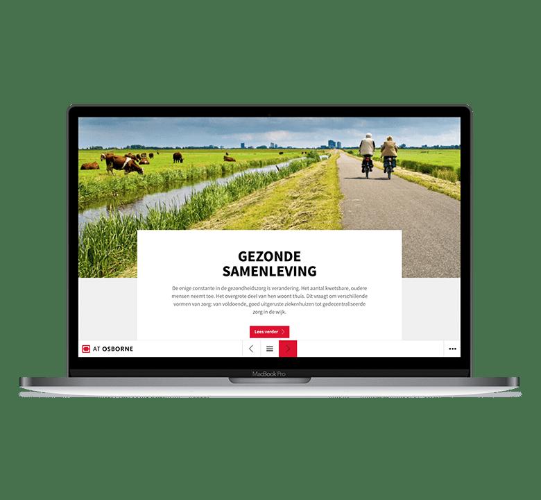 Desktop versie AT Osborne online jaarverslag 2020