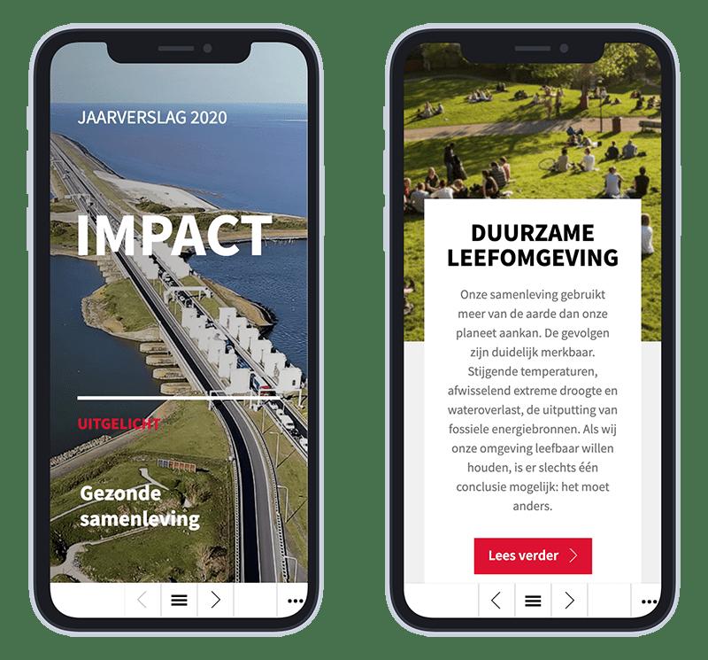 Mobiele versie AT Osborne online jaarverslag 2020