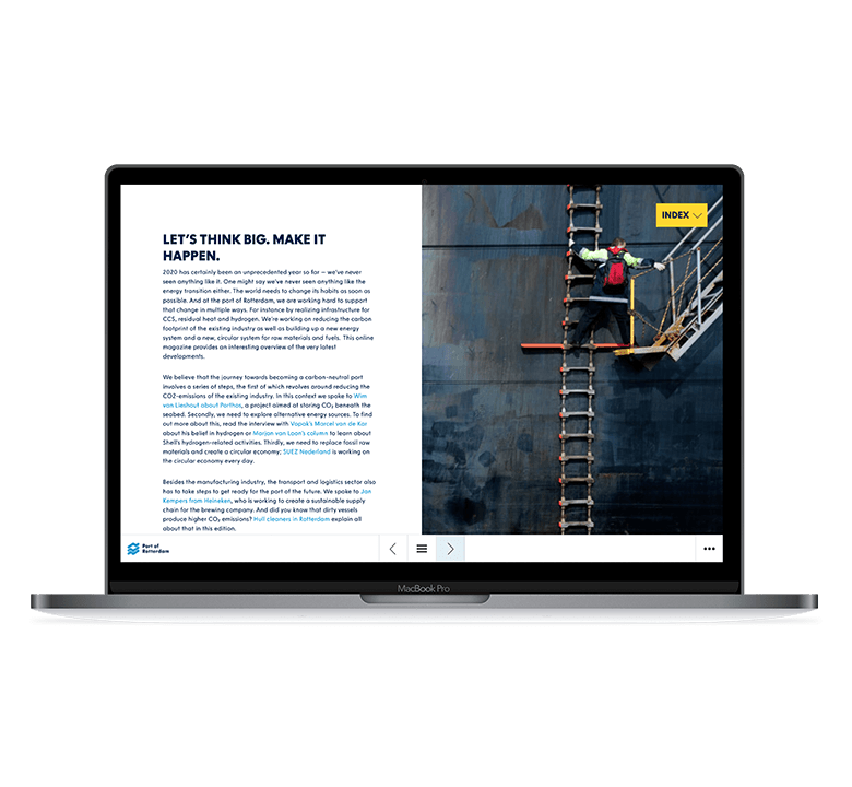 Desktop versie Rotterdam Port Magazine - Port of the Future