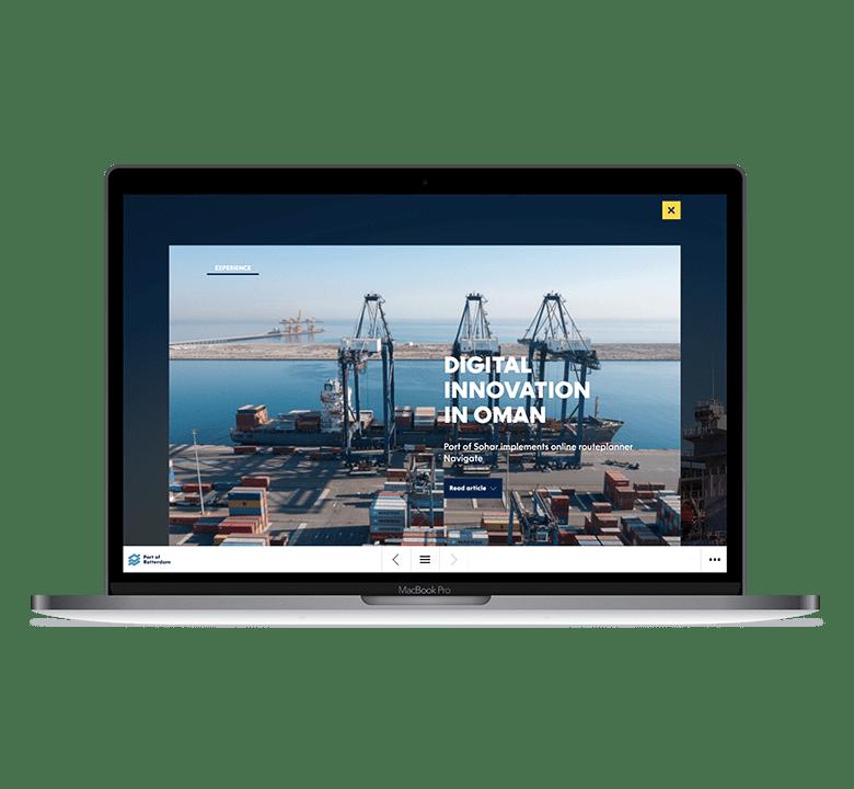 Desktop versie Rotterdam Port Magazine - Digital transformation