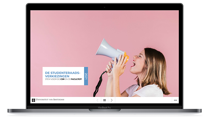 Desktop versie UvA Studentenraadsverziekingen 2021