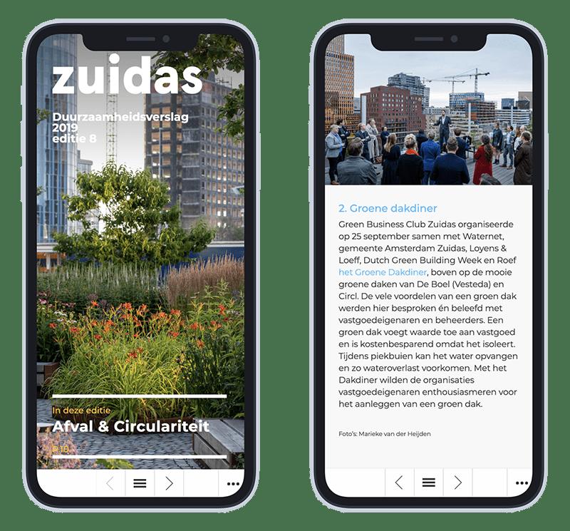 Mobiele versie ZuidAs Duurzaamheidsverslag