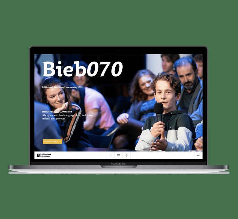 Desktop versie online jaarverslag Bieb070