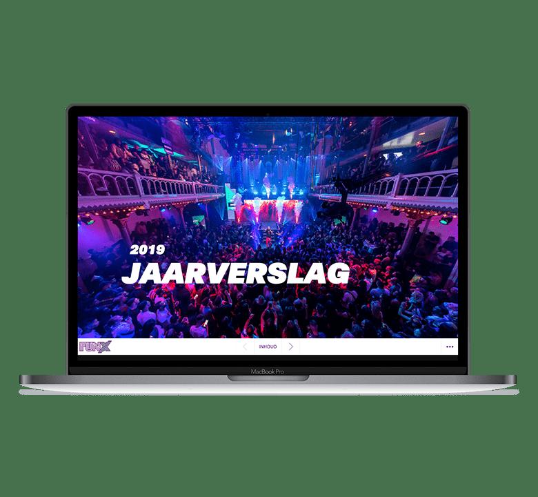 Desktop versie FunX online jaarverslag 2019
