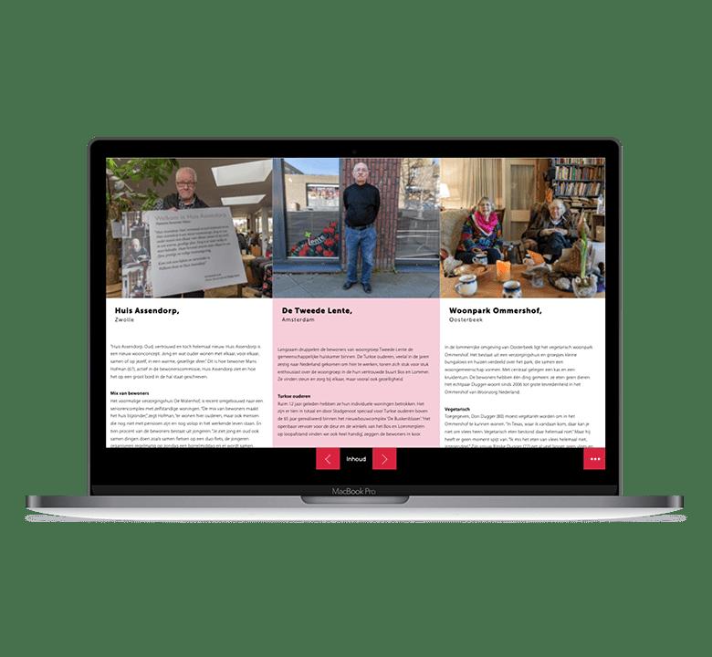 Desktop versie online Magazine Congresredactie Samen Zelfstandig